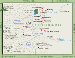 Colorado Territory History Colorado Territory Map - Coloradomap