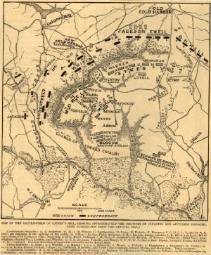 Historical Gaines Mill Battlefield Map.jpg