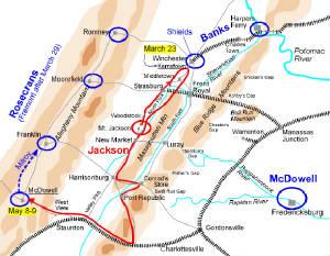 Shenandoah Valley Civil War Campaign Campaigns Map Maps