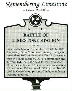 Historical Marker: Battle of Limestone Station.jpg