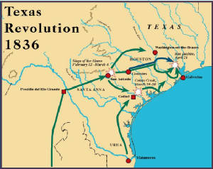 Map Of Texas 1835.Texas Timeline Texas Revolution Texas Independence History