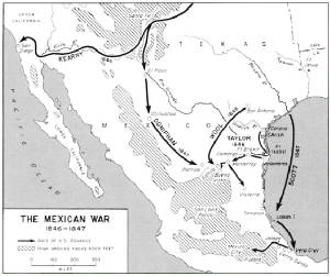 Mexican American War Map