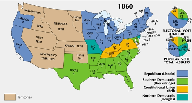 Border State Civil War Secession Border States Slavery Map
