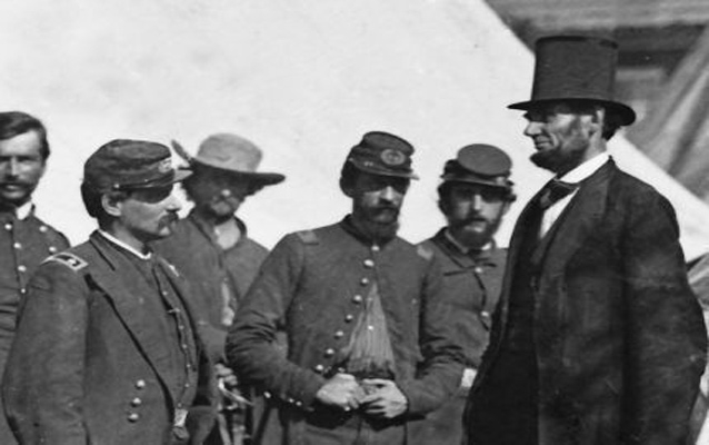 President Lincoln visiting the troops.jpg