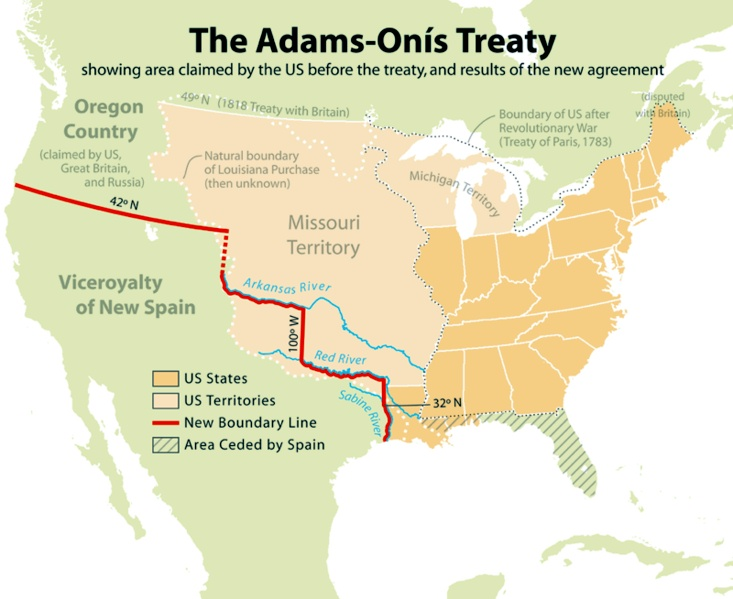 Map of us after louisiana purchase