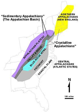 appalachian mountains map