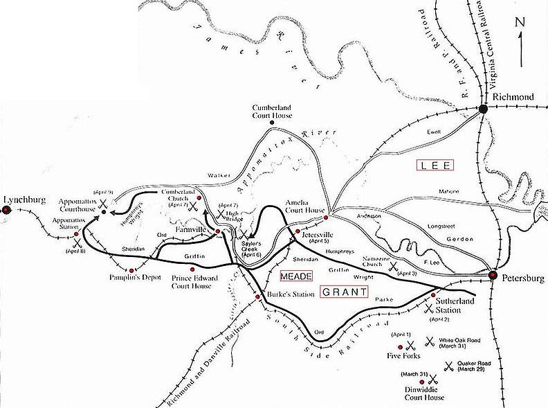 Civil war surrender appomattox virginia history map soldiers civil war surrender appomattox mapg sciox Image collections