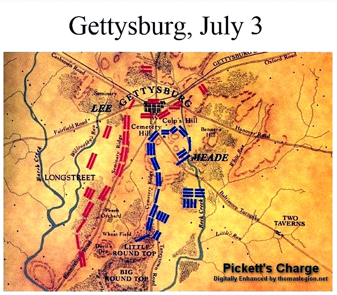 the battle of gettysburg The battle of gettysburg was a three-day civil war battle fought in pennsylvania confederate general robert e lee led.