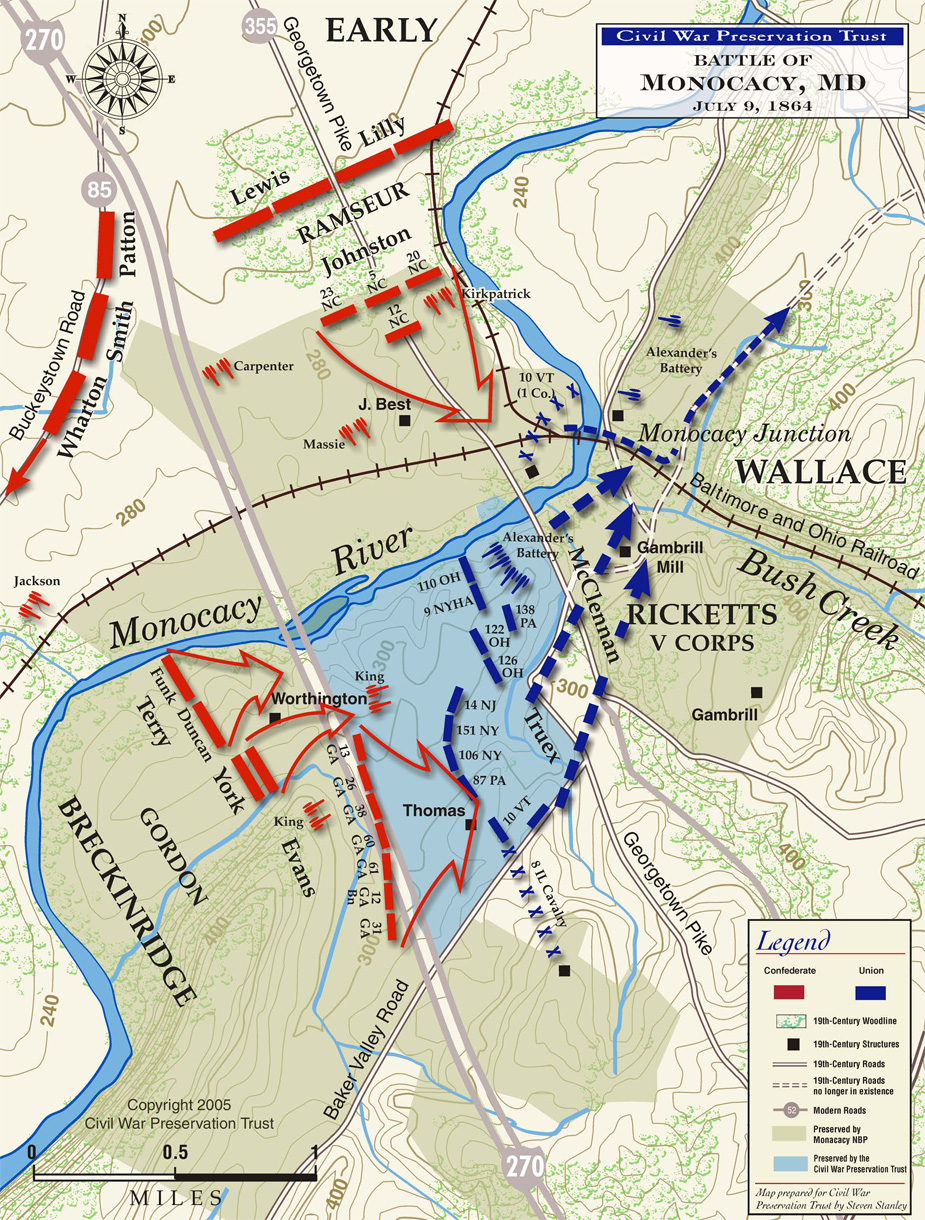 Battle of Monocacy Battlefield Map.jpg