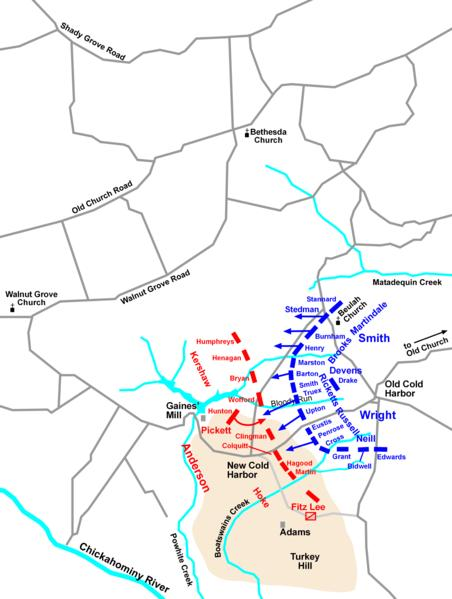 the battle at cold harbor Battle of cold harbor, mechanicsville, virginia 195 likes the battle of cold harbor was fought from may 31 to june 12, 1864, with the most significant.
