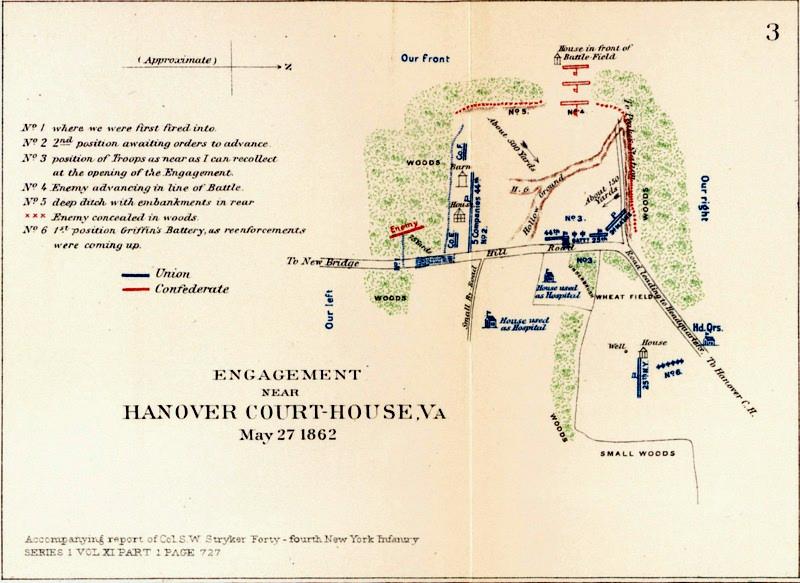 Battle Of Hanover Court House Maps American Civil War