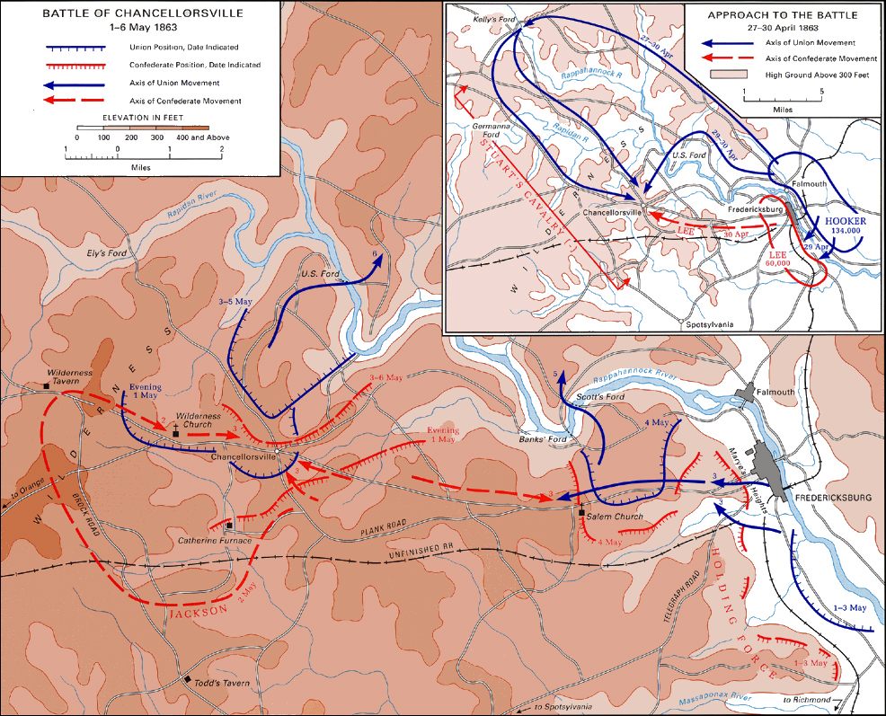 Battle of Chancellorsville, Virginia, Map.jpg