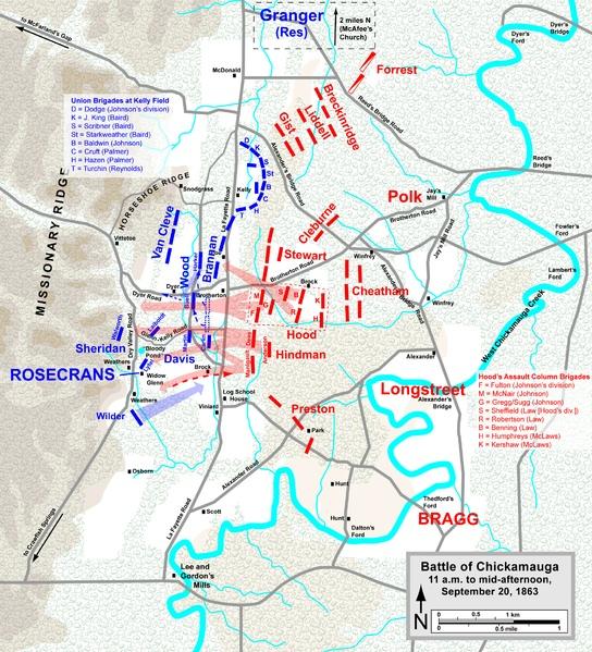 Battle Of Chickamauga Maps The Chickamauga Campaign Map - Battle of chickamauga map
