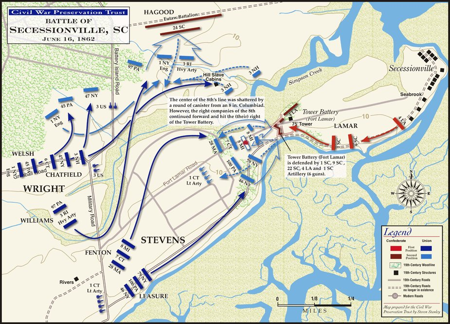 Charleston Civil War Forts Battles South Carolina Coast Fort - Fort sumter on us map