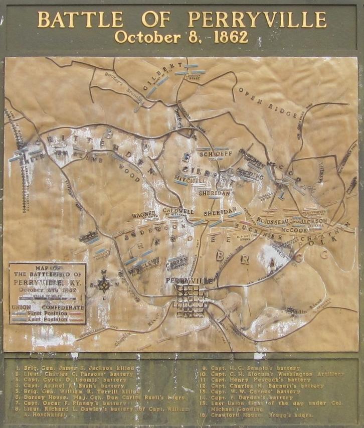 Battle of Perryville Civil War Kentucky History Map