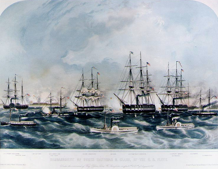 Bombardment of Fort Hatteras and Fort Clark.jpg