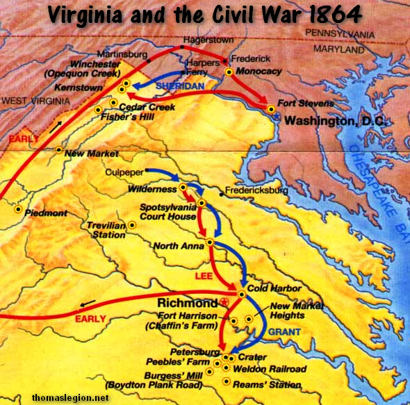 Virginia Civil War Battlefields in 1864.jpg