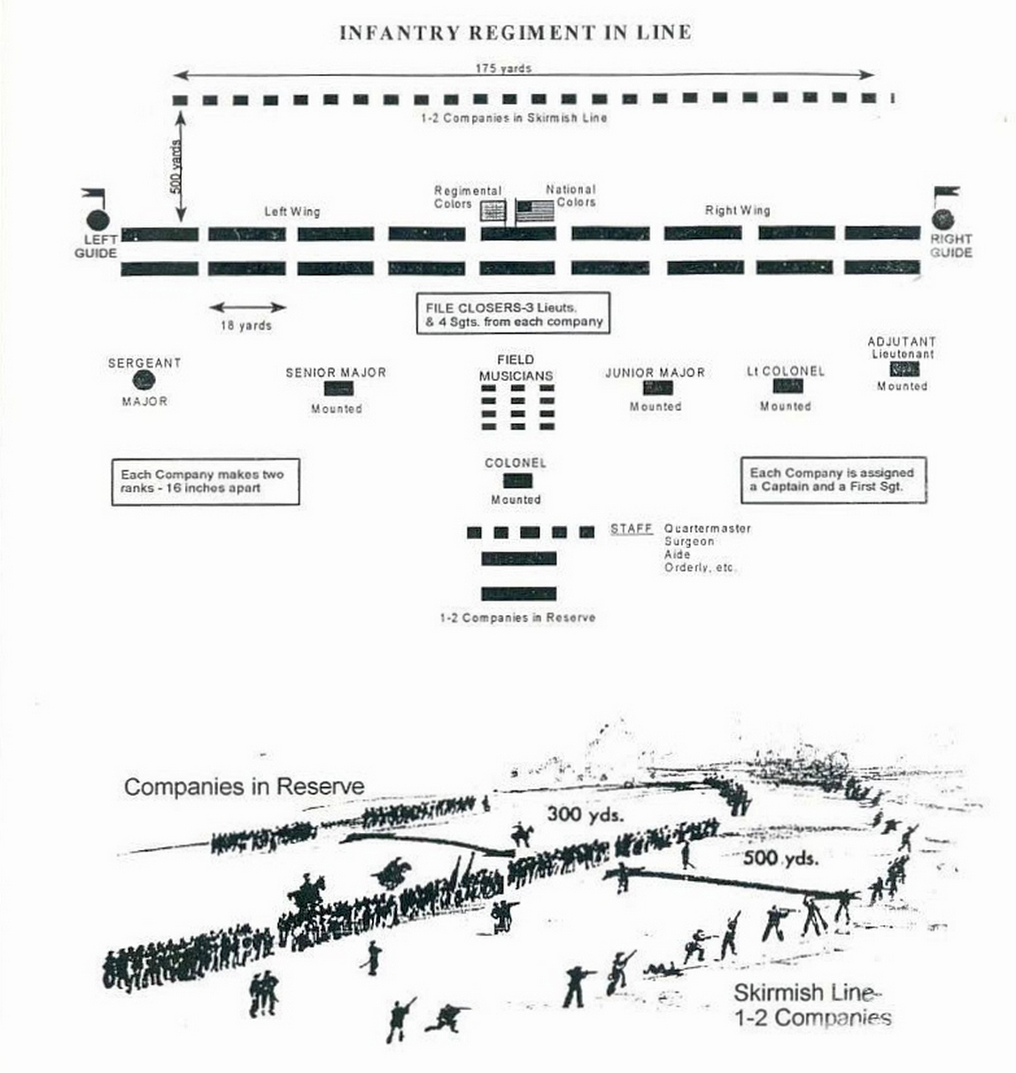 Civil War Chart Civil War Army Infantry