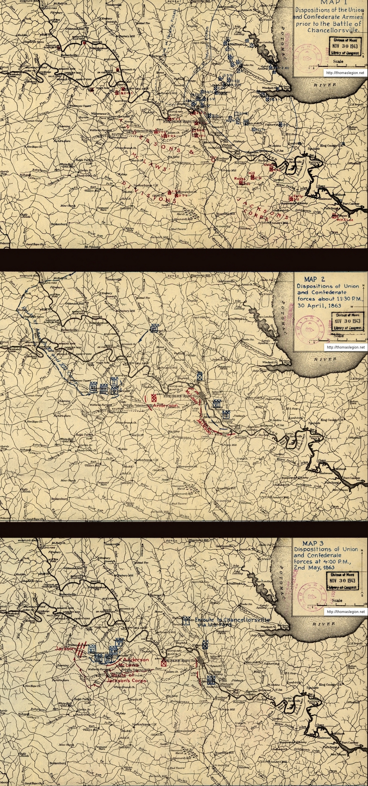 Civil War era Chancellorsville Battlefield Map.jpg
