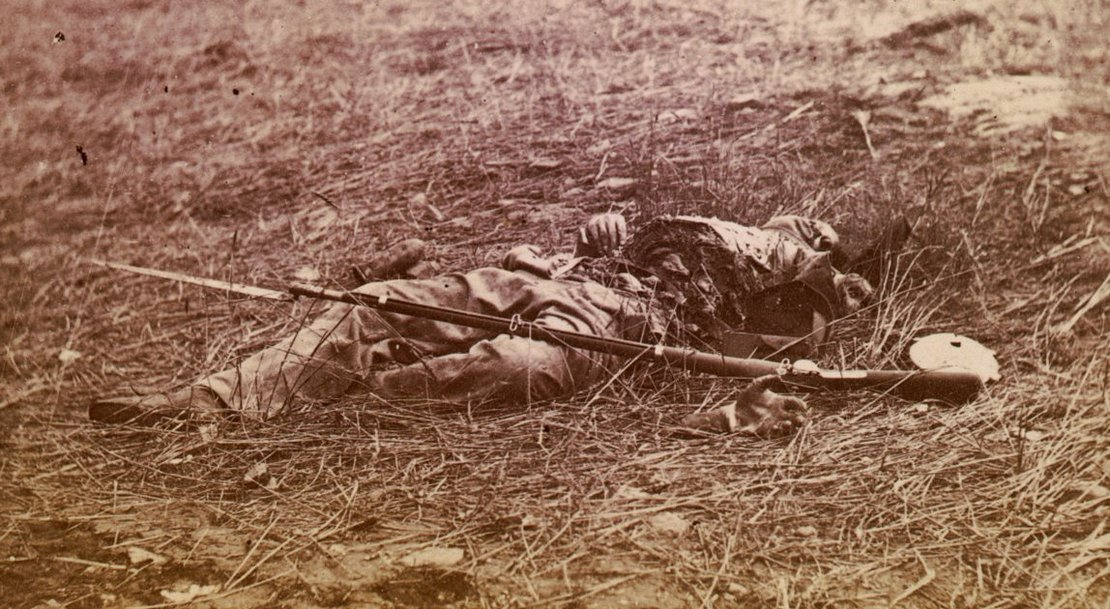 Civil War Soldier in Battle Shot Dead.jpg