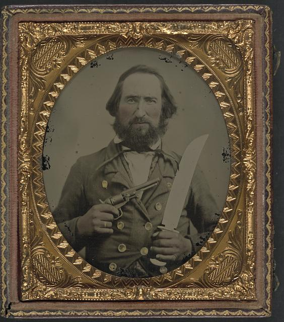 Confederate Civil War soldier with bowie knife.jpg