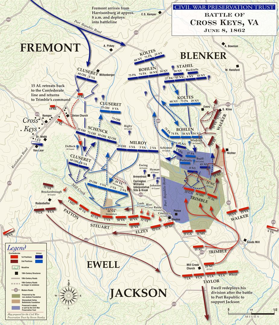 Stonewall Jackson Valley Campaign 1862 History Civil War Map