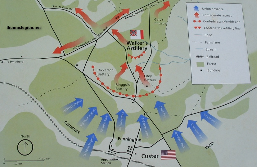Battle Of Appomattox Station - Appomattox court house us map