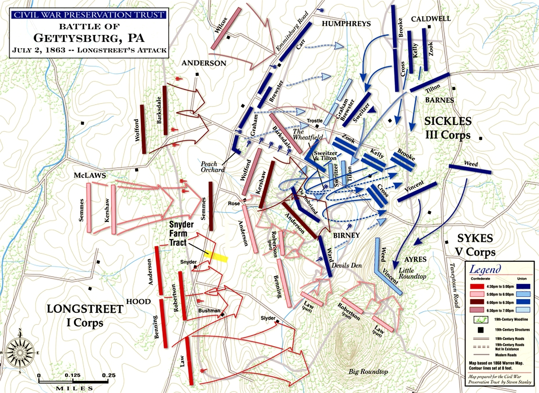 Devils Den Arkansas Map.Battle Of Gettysburg Devil S Den