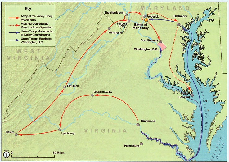 Battle of Washington Route Map.gif