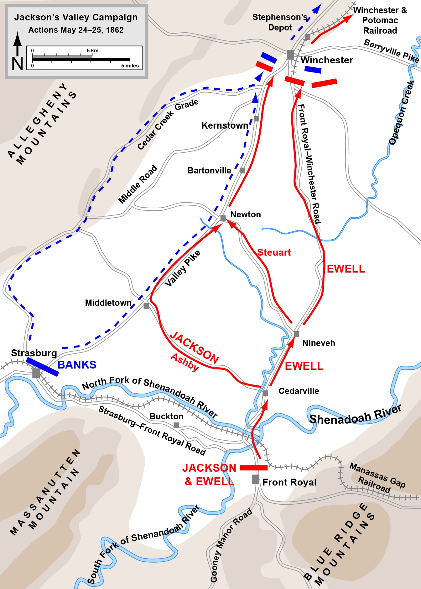 First Battle of Winchester Civil War Map.jpg