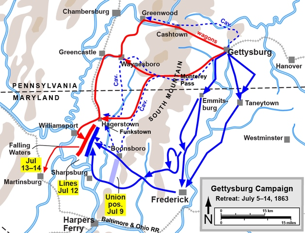 Retreat during the Gettysburg Campaign Map.jpg