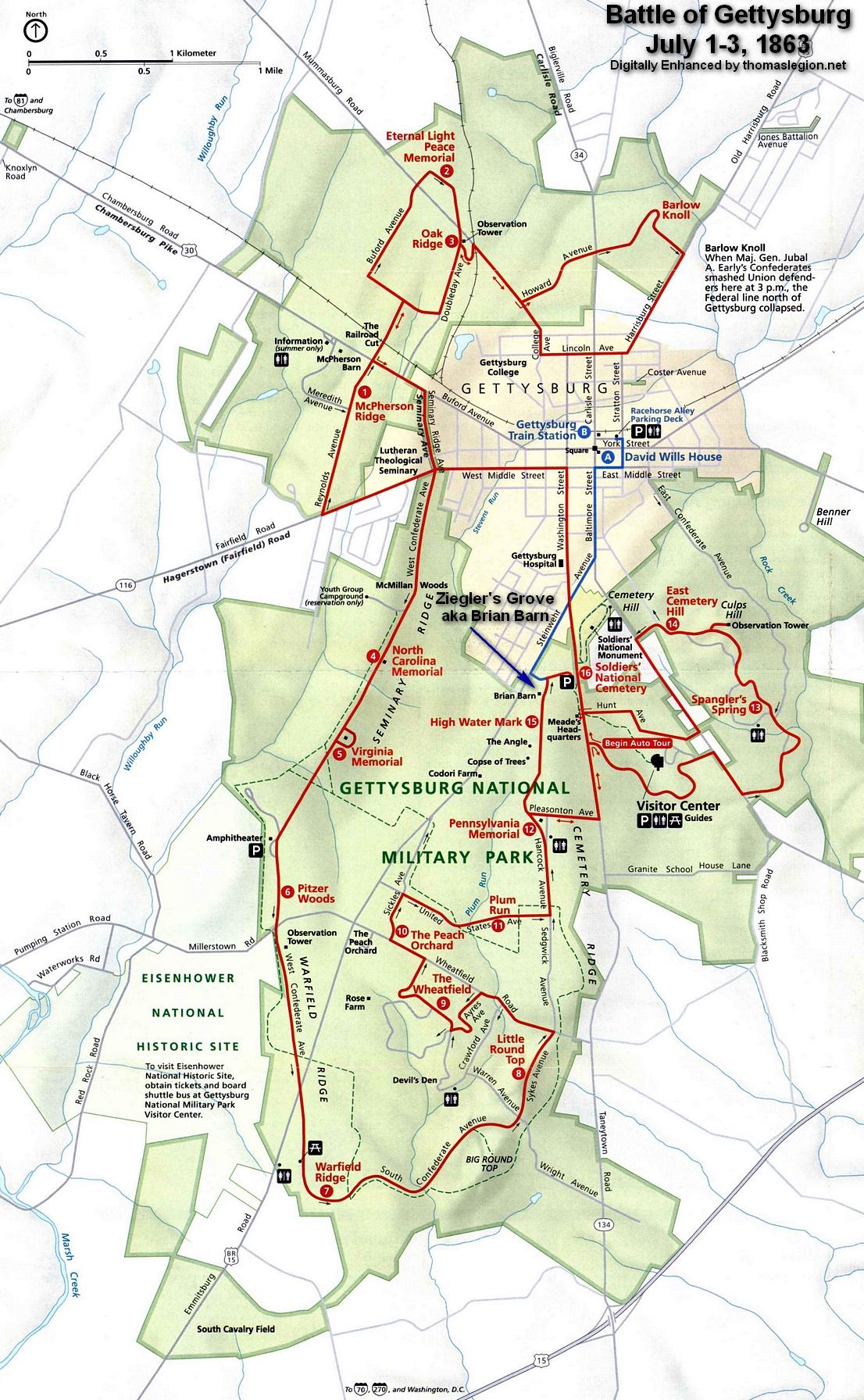 Zieglers Grove  Battle of Gettysburg