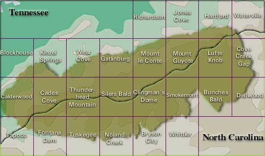 Great Smoky Mountains National Park Elevations