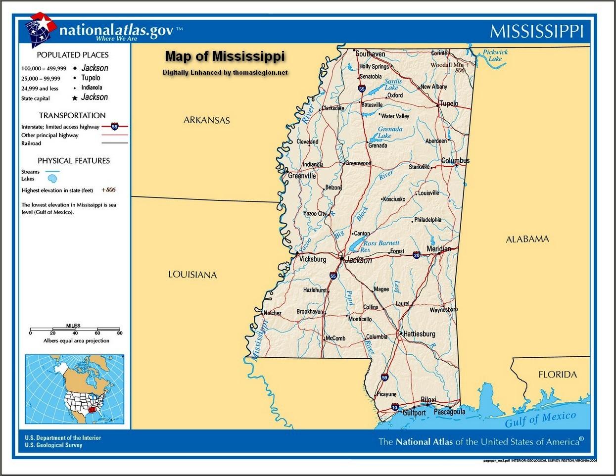 civil war battles battlefields high resolution map of mississippijpg