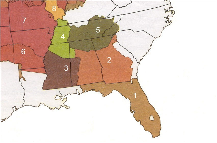 Five Civilized Tribes Map