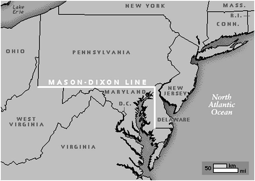 The Mason Dixon Line History