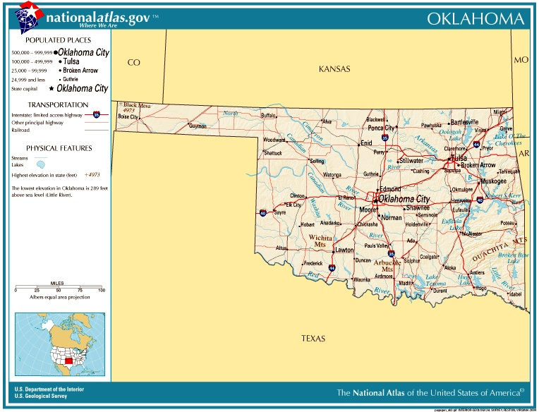 Trail Of Tears Oklahoma Map.Oklahoma Settlement History