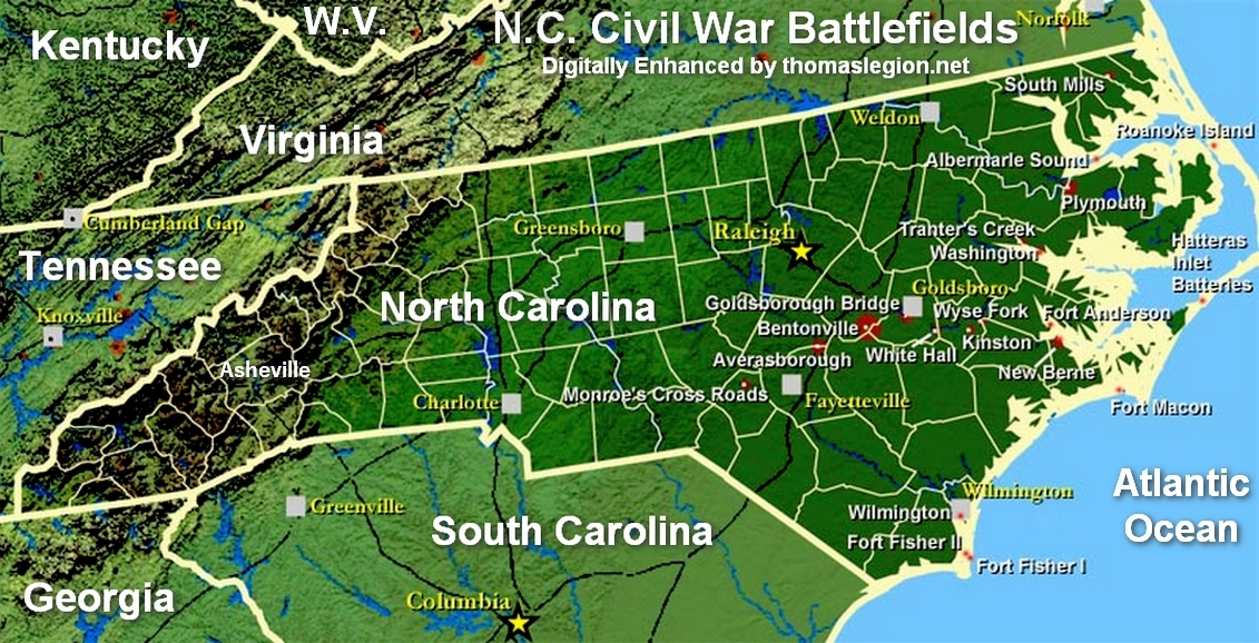 North Carolina Civil War Battlefields Map.jpg