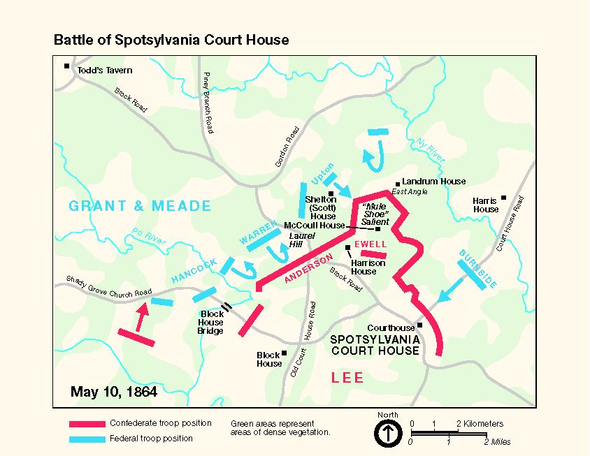 Battle Of Spotsylvania Court House Battlefield Map - Appomattox court house us map