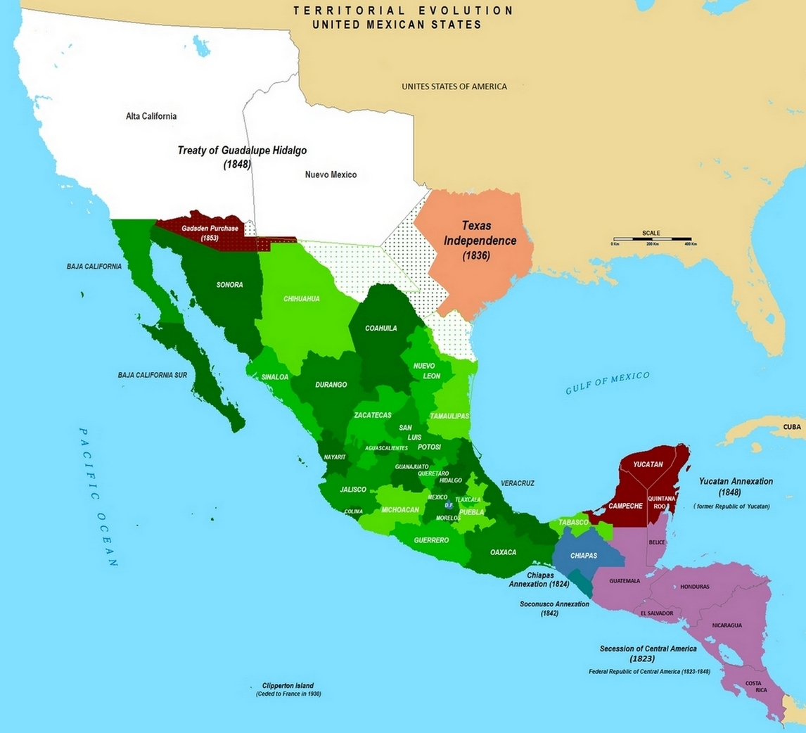 Treaty of Guadalupe Hidalgo Mexican Cession Treaty Facts Map