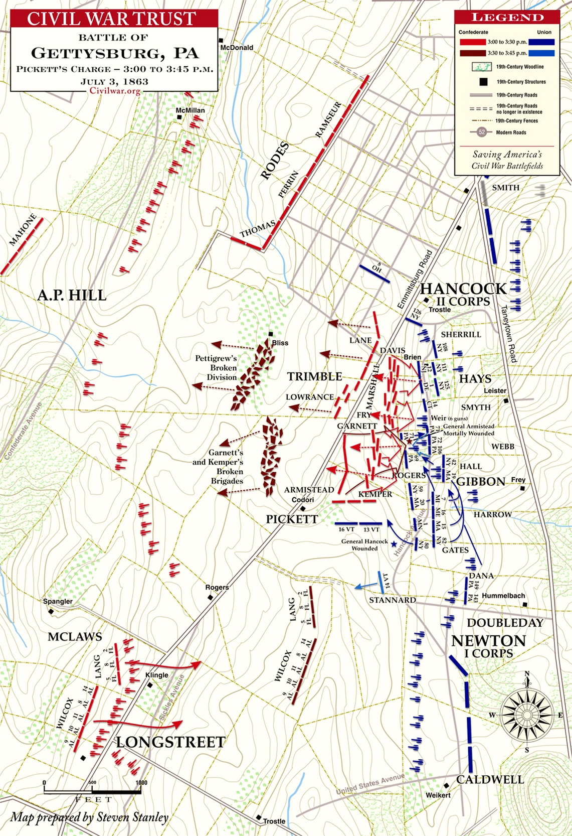 Pickett's Charge Map, July 3, 1863.jpg