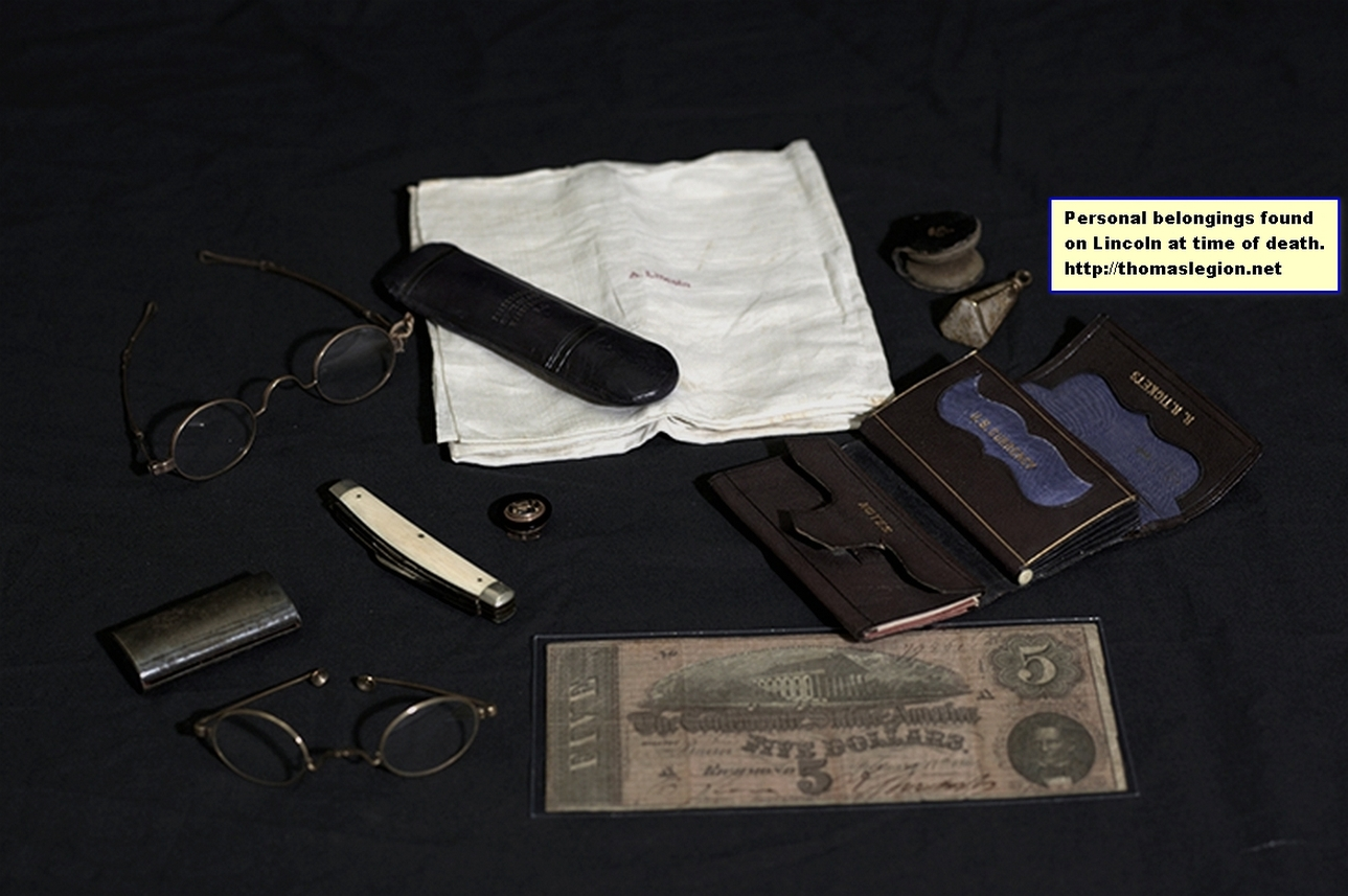 Items on Lincoln at time of death.jpg
