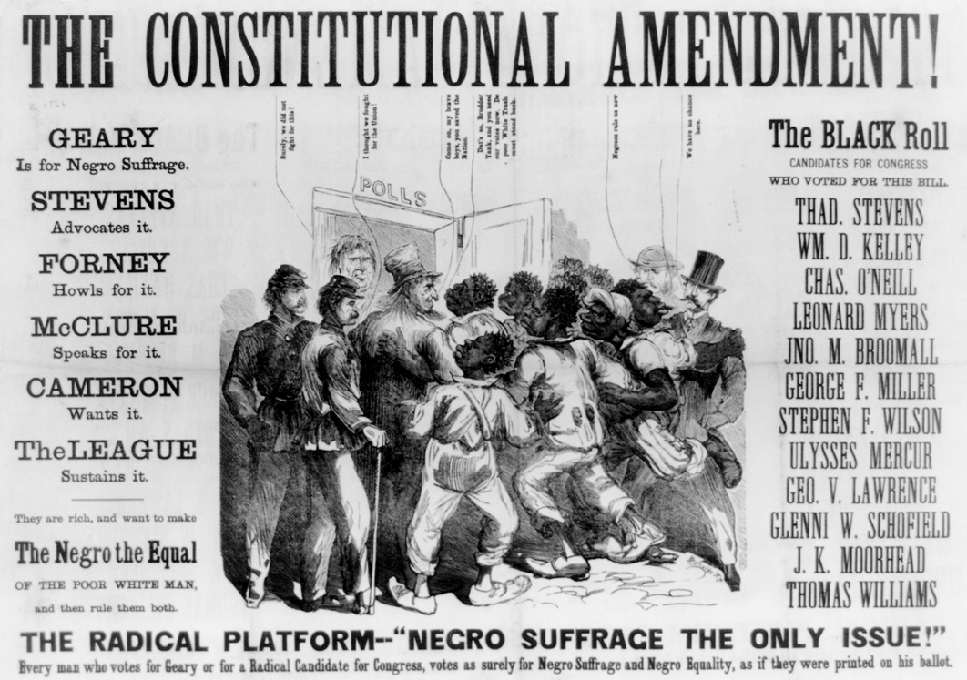 racism before and after ratification of 13th 14th and 15th amendments Three landmark constitutional amendments the 13th ended  before the civil war there was no  that goal in the 14th and 15th amendments.