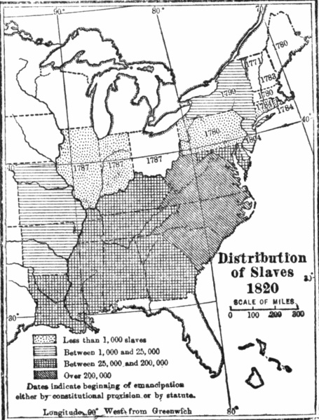 Distribution Of Slaves In The United States - Us slavery map