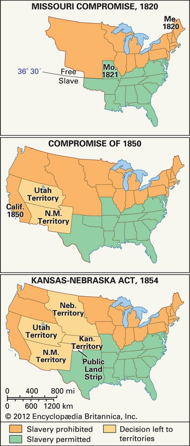 Compromise Henry Clay Act Fugitive Slave Law Compromise - Map of us slave states