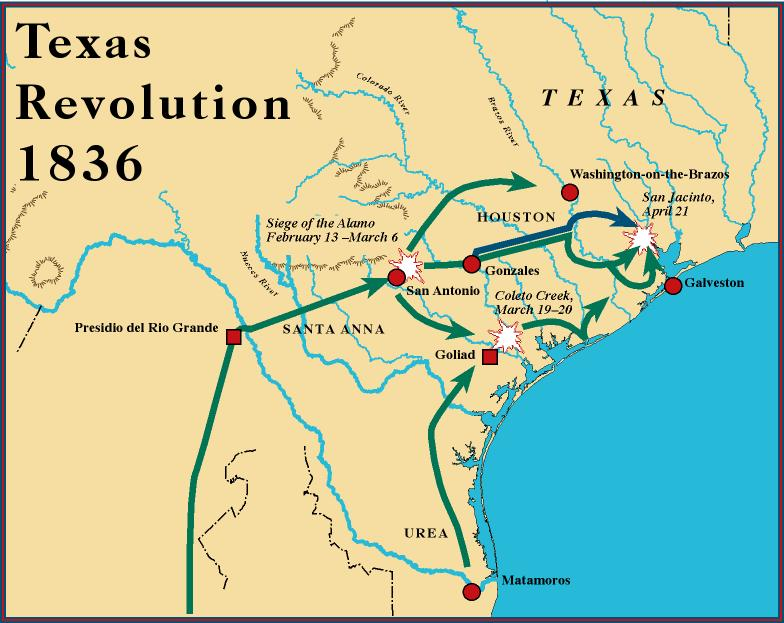 Texas Independence Map