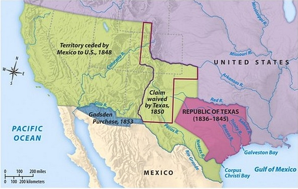 Map Of Texas 1836.Texas Revolution History Texas War Of Independence Mexico