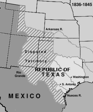 texas and california annexation Territory ceded by mexico, 1845-1853 a map of the territory acquired from mexico including the annexation of texas in 1845, california, utah territory, and new mexico territory in 1848, and the gadsden purchase in 1853.