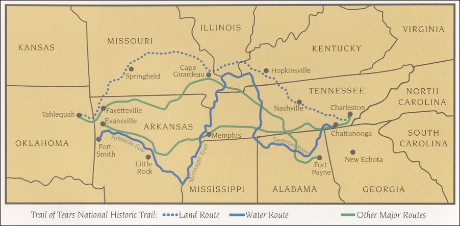 Map Of Georgia 1830.Cherokee Trail Of Tears Map Cherokee Indians Trail Of Tears