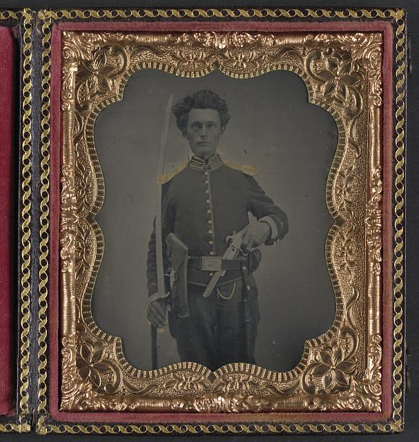 Union cavalry uniform, revolver, and sword.jpg